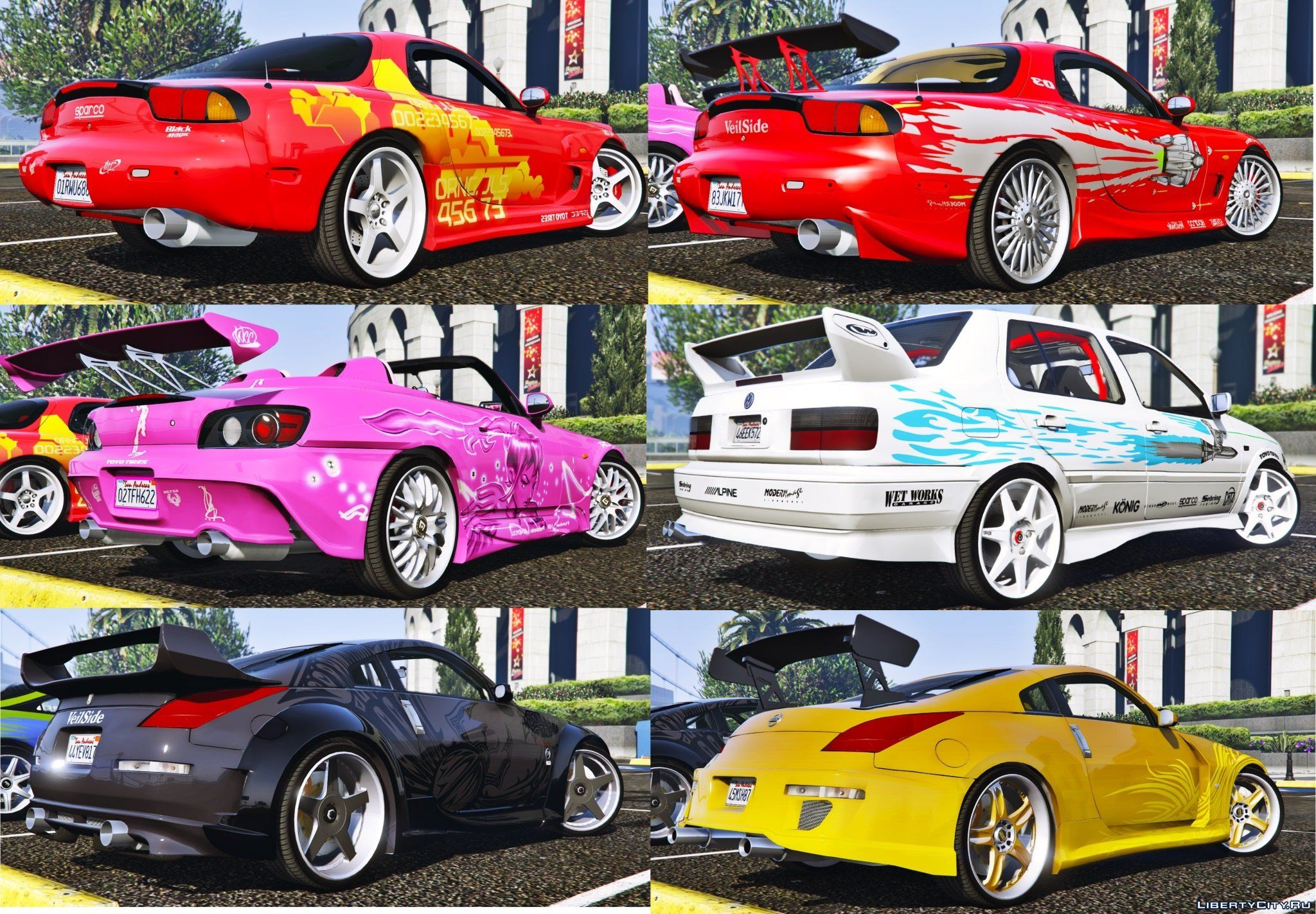 the fast and the furious cars pack 2 hqaddonanimated