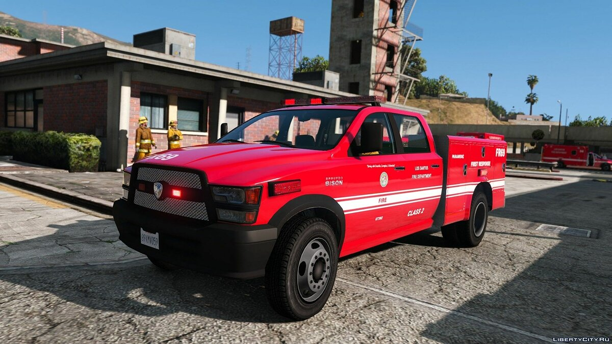 Car packs Los Santos Fire Department Vehicle Pack - Collection of fire engines in Los Santos for GTA 5