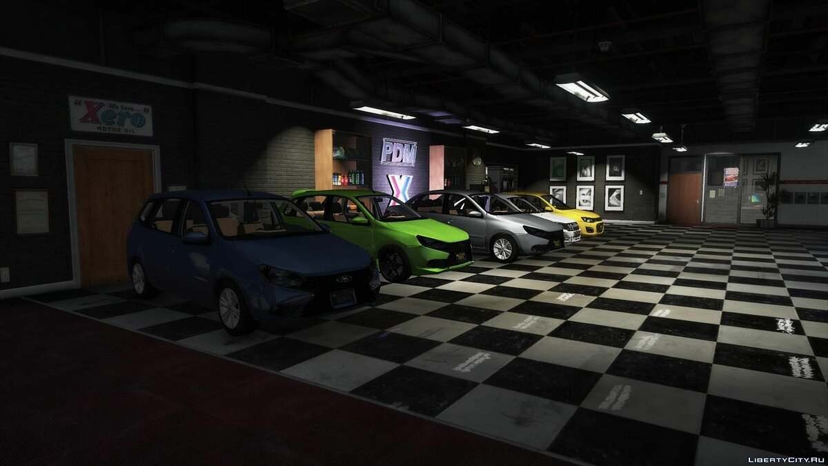 Car packs Set of cars Lada Granta from AKROM for GTA 5