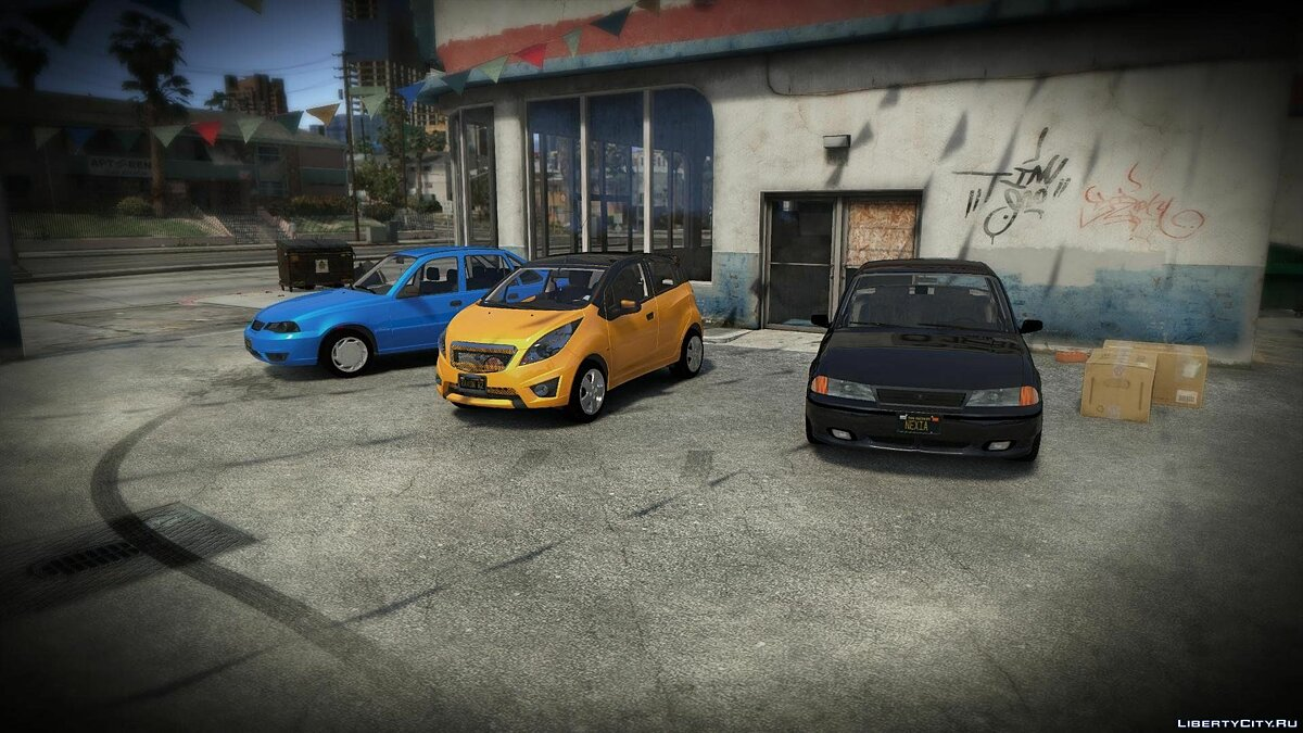 Car packs Daewoo and Ravon by AKROM Add-ON 1.0 for GTA 5