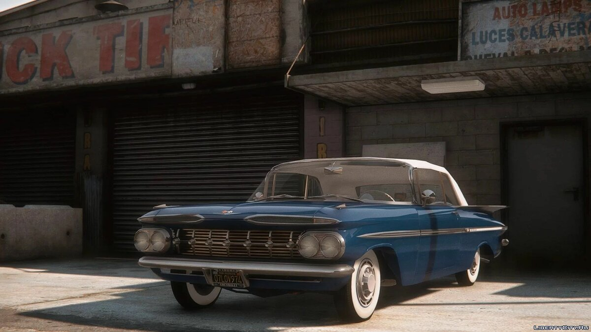 Car packs 1959 Chevrolet Impala cars for GTA 5