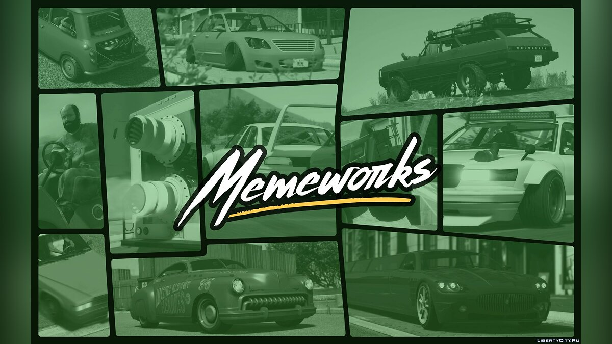Car packs Memeworks Pack [Add-On | Tuning] 1.0 for GTA 5