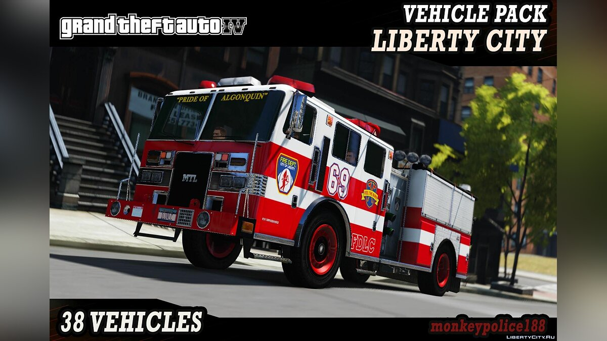 Car packs Liberty City Vehicle & Ped Pack (FDLC, LCPD and more) [Add-On | Liveries] v1.0 for GTA 5