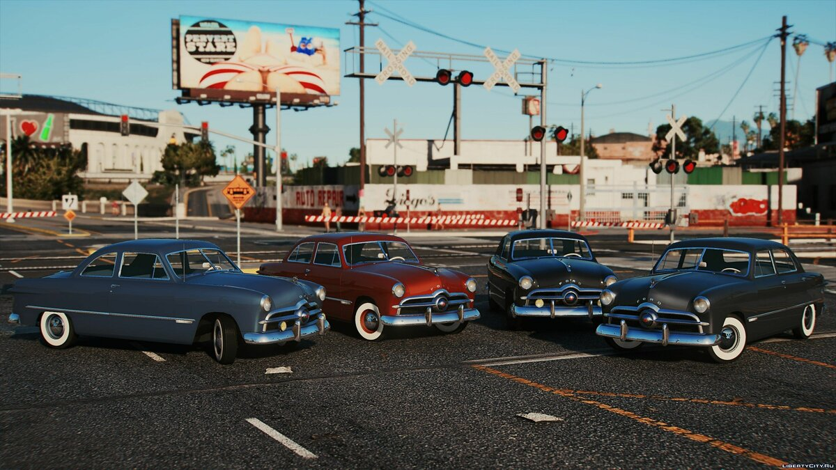Car packs 1949 Ford Collection [Add-On | LODs] 1.5 for GTA 5