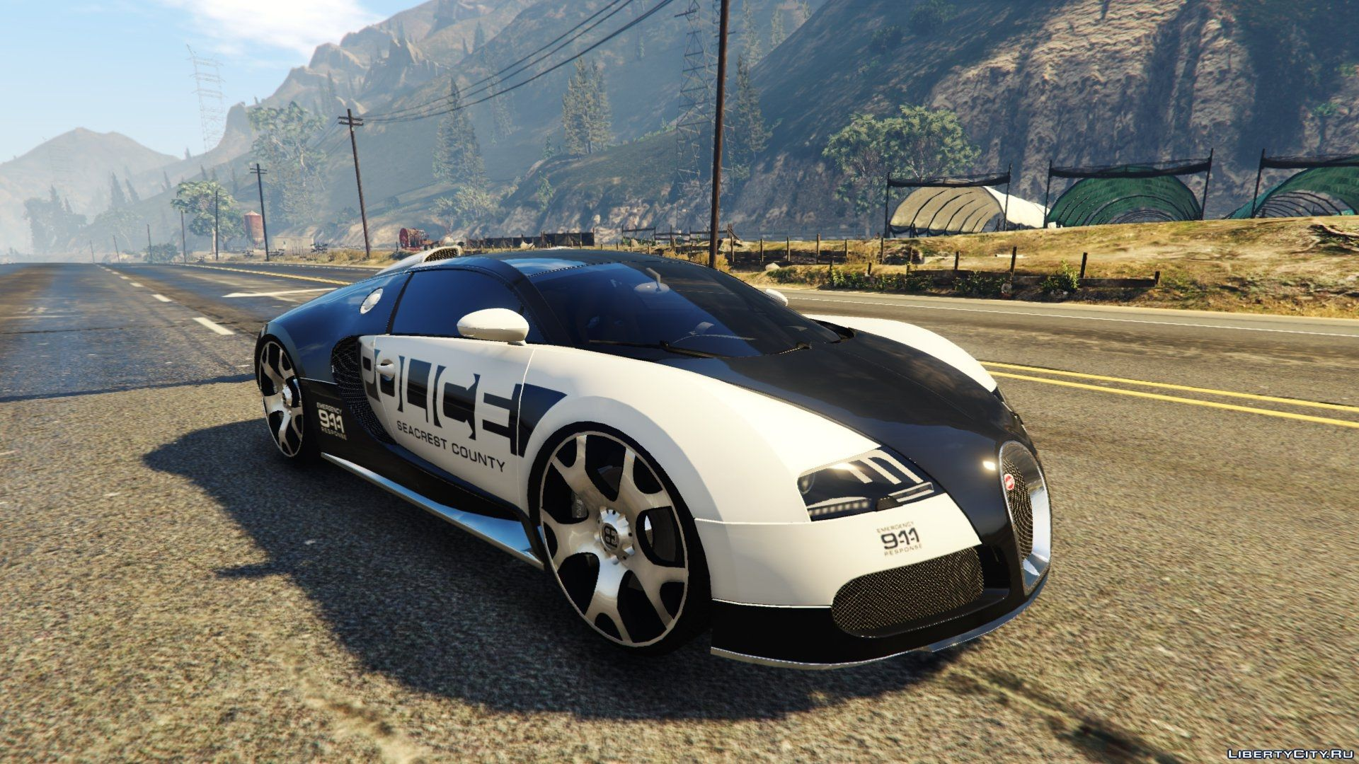 Bugatti Veyron Need For Speed Hot Pursuit Police For Gta 5