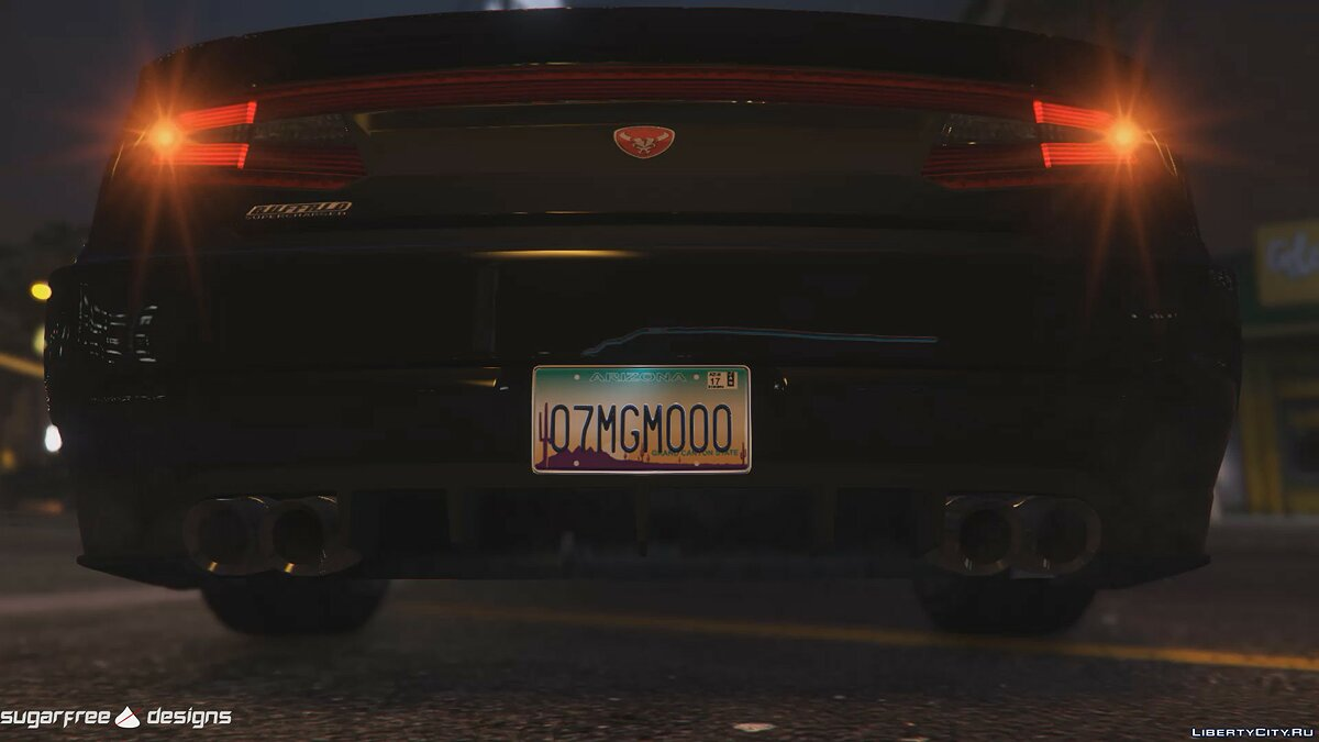 Car texture License Plate Variations for GTA 5
