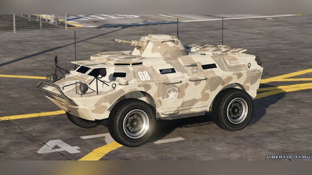 Car texture IVPack APC Army Texture 1.01 for GTA 5
