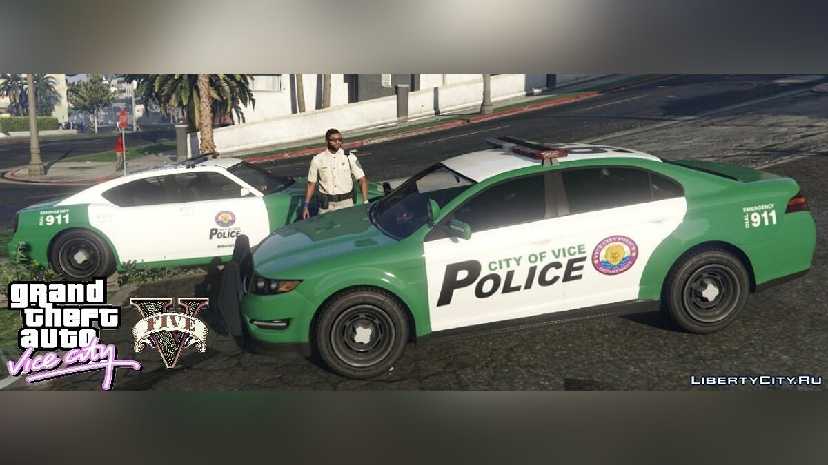 Car texture Vice City Police Cars for GTA 5
