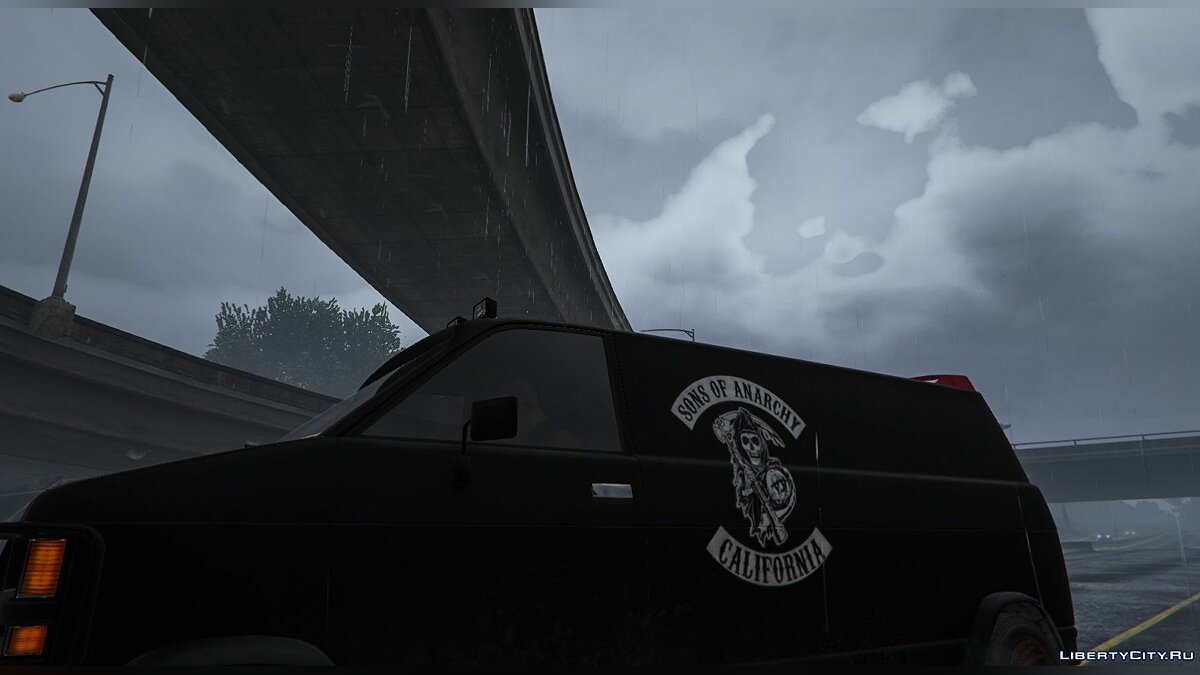 Car texture Sons of Anarchy Van for GTA 5