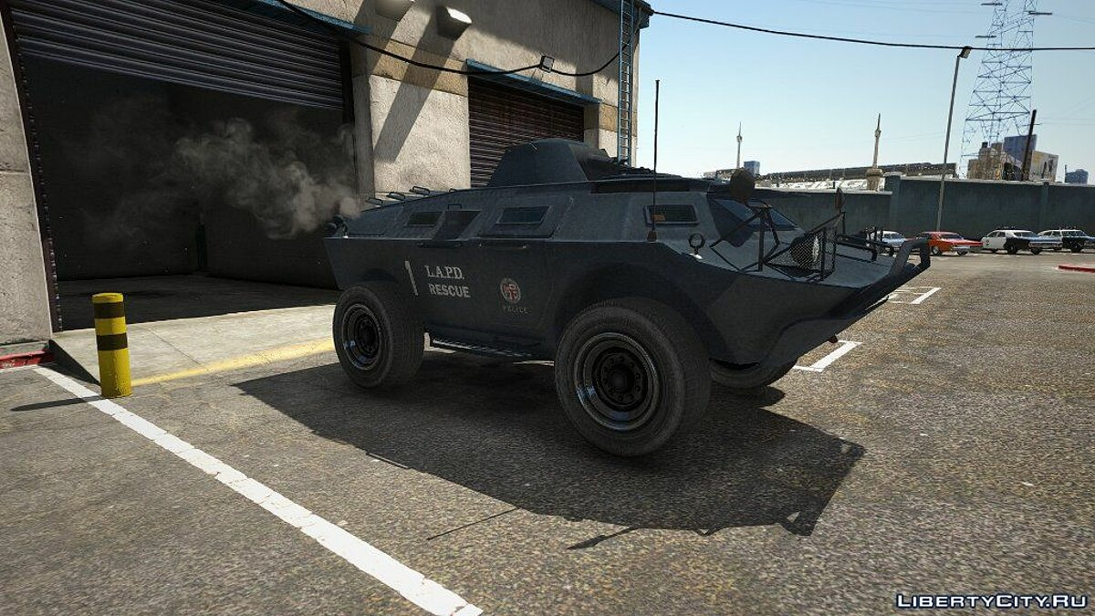 Car texture LAPD texture for IVPack APC for GTA 5