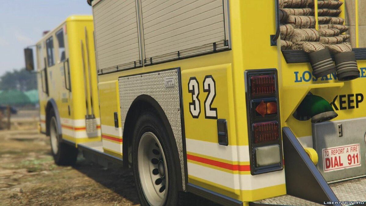 Los Angeles - Fire Truck Mod for GTA 5 - Картинка #1