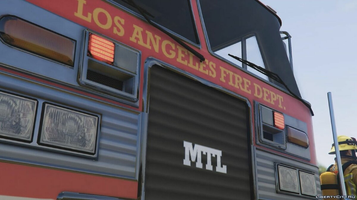 Los Angeles - Fire Truck Mod for GTA 5 - Картинка #2
