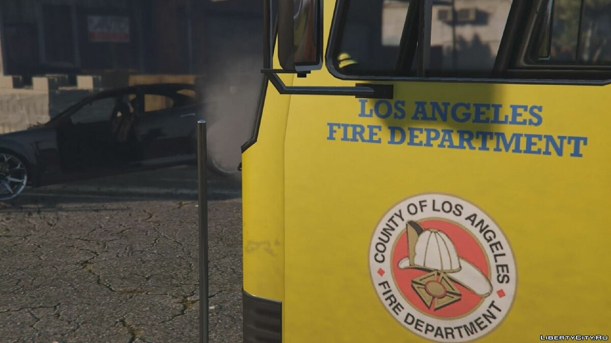 Los Angeles - Fire Truck Mod for GTA 5 - Картинка #3