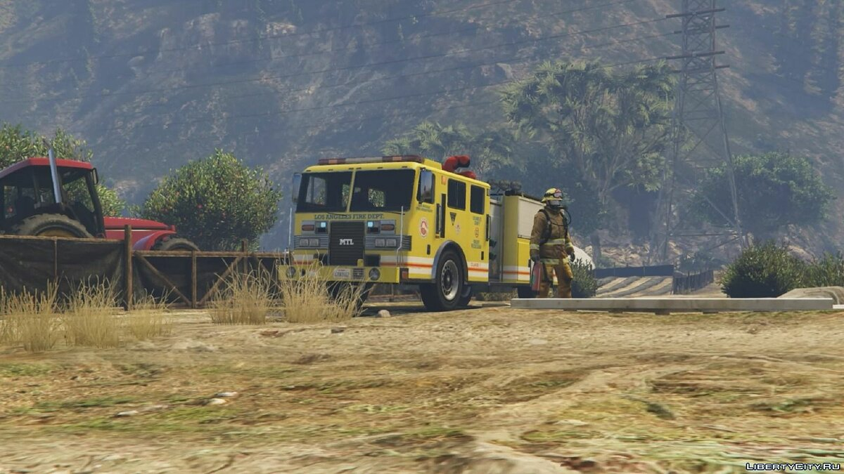 Los Angeles - Fire Truck Mod for GTA 5 - Картинка #4