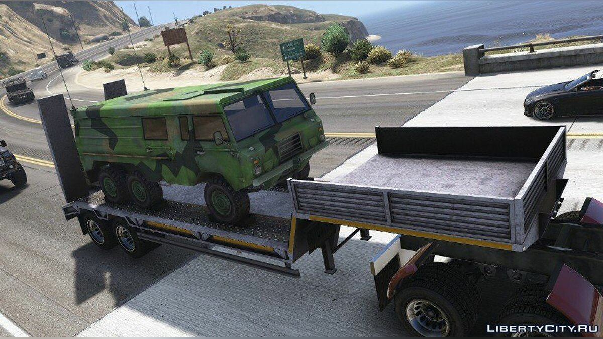 Car trailer Military Trailer (Replace) 1.0 for GTA 5