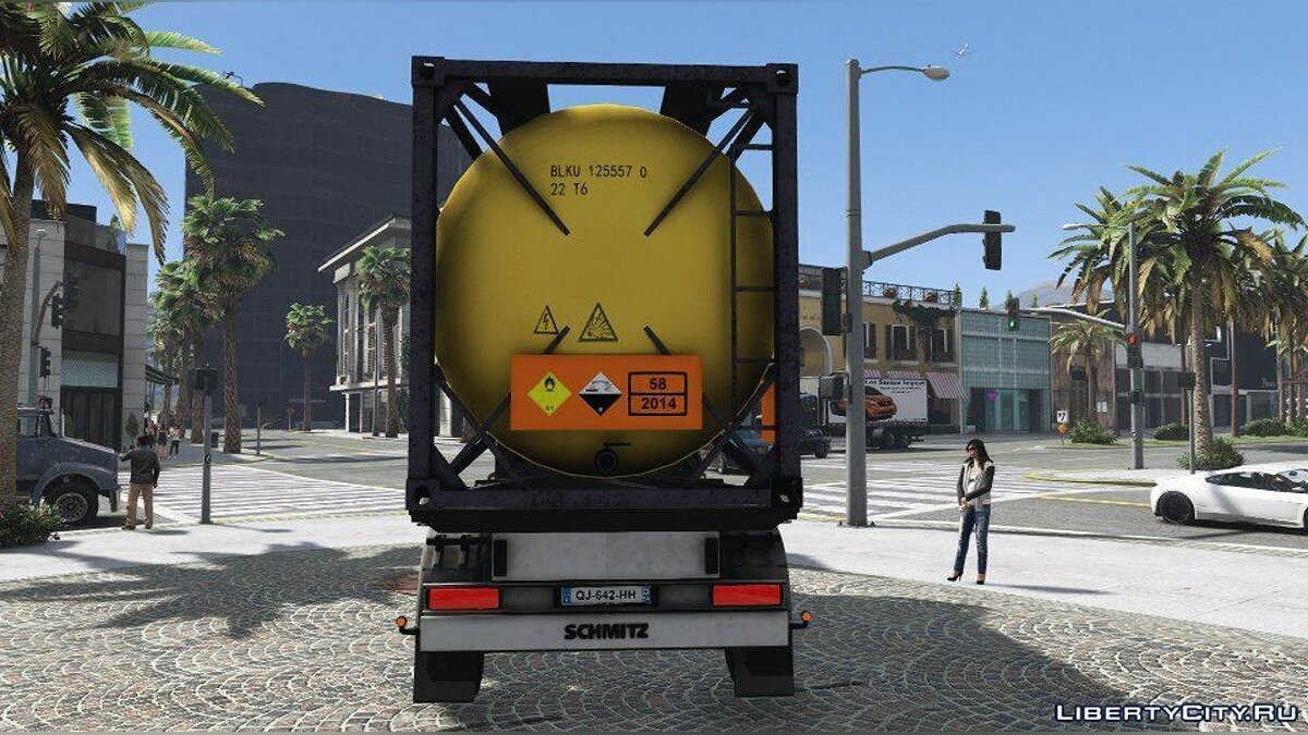 Car trailer Gas Trailer (Replace) 1.0 for GTA 5