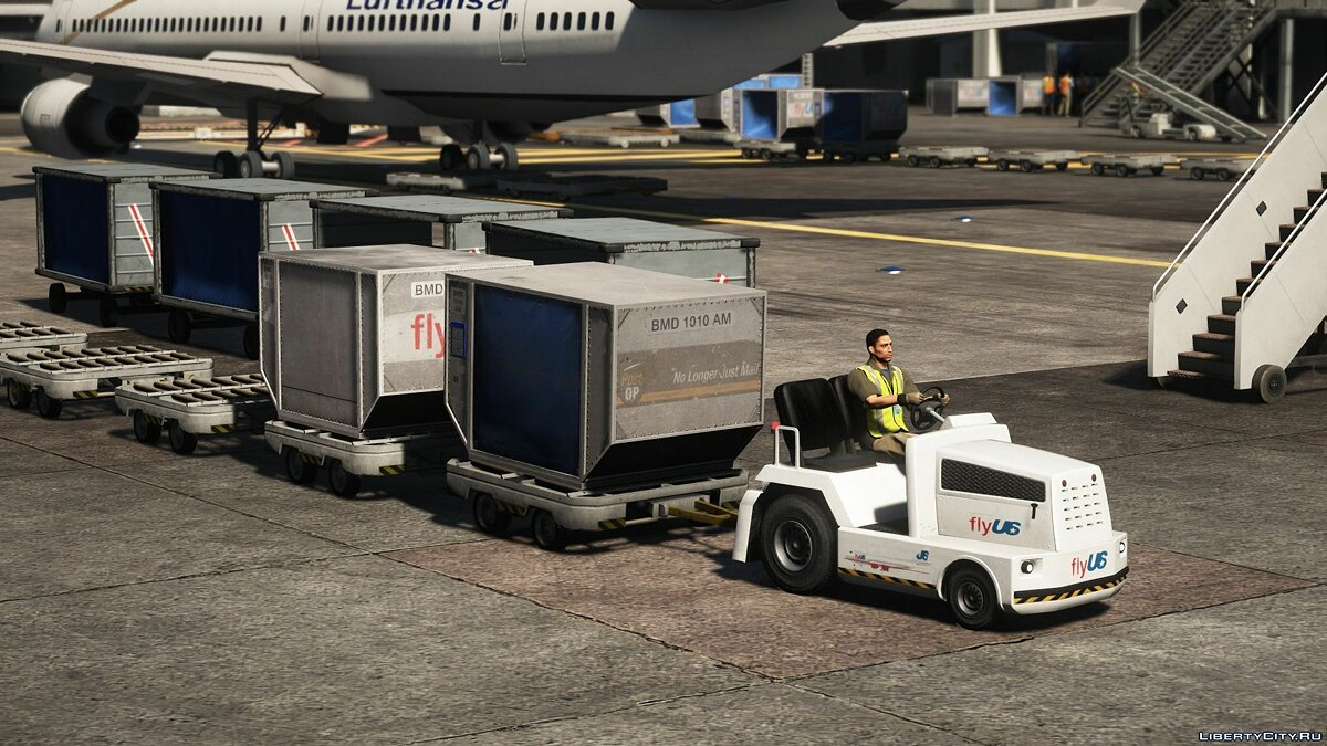 Car trailer Airport trailers [Add-On] for GTA 5