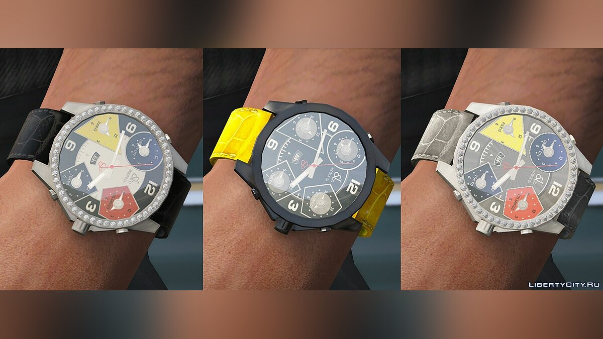 Watches and chains [FRANKLIN | Add-on] Jacob & Co. Five Time Zone watch 1.0 for GTA 5