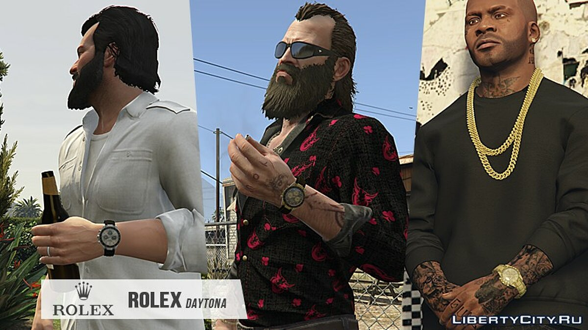 Watches and chains [M / F / T   Add-On] ROLEX Daytona 1.0 for GTA 5