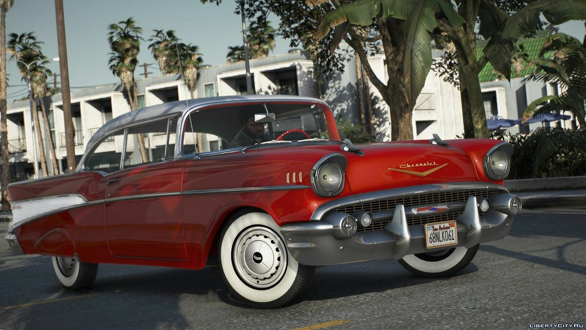 Chevrolet car 1957 Chevrolet Bel Air [Add-On | LODs | Template] 1.0 for GTA 5