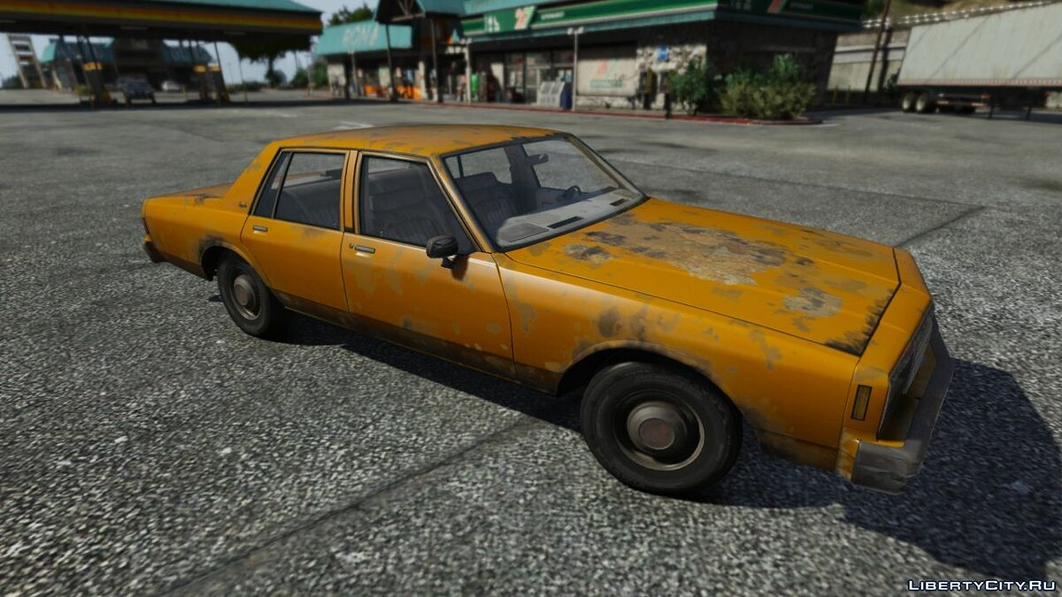 Chevrolet car Rusty Chevrolet Impala + Rusty textures for GTA 5
