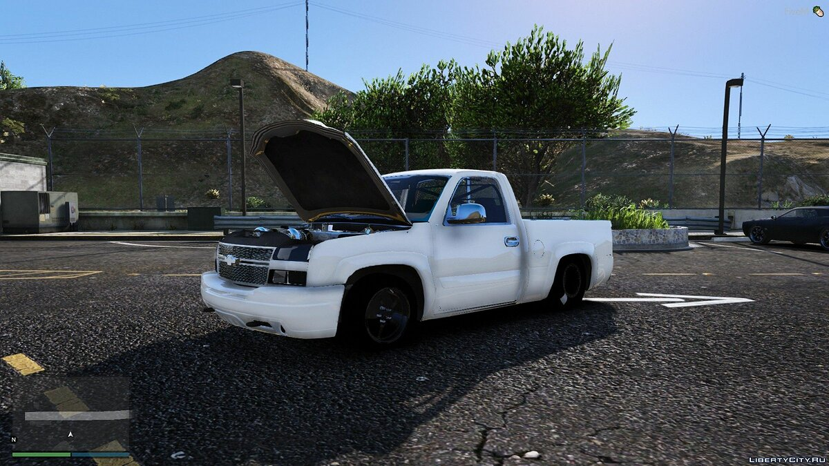 Chevrolet car Drag Chevy Silverado Cat Eye Single Cab [FIVE-M] 1.0 for GTA 5