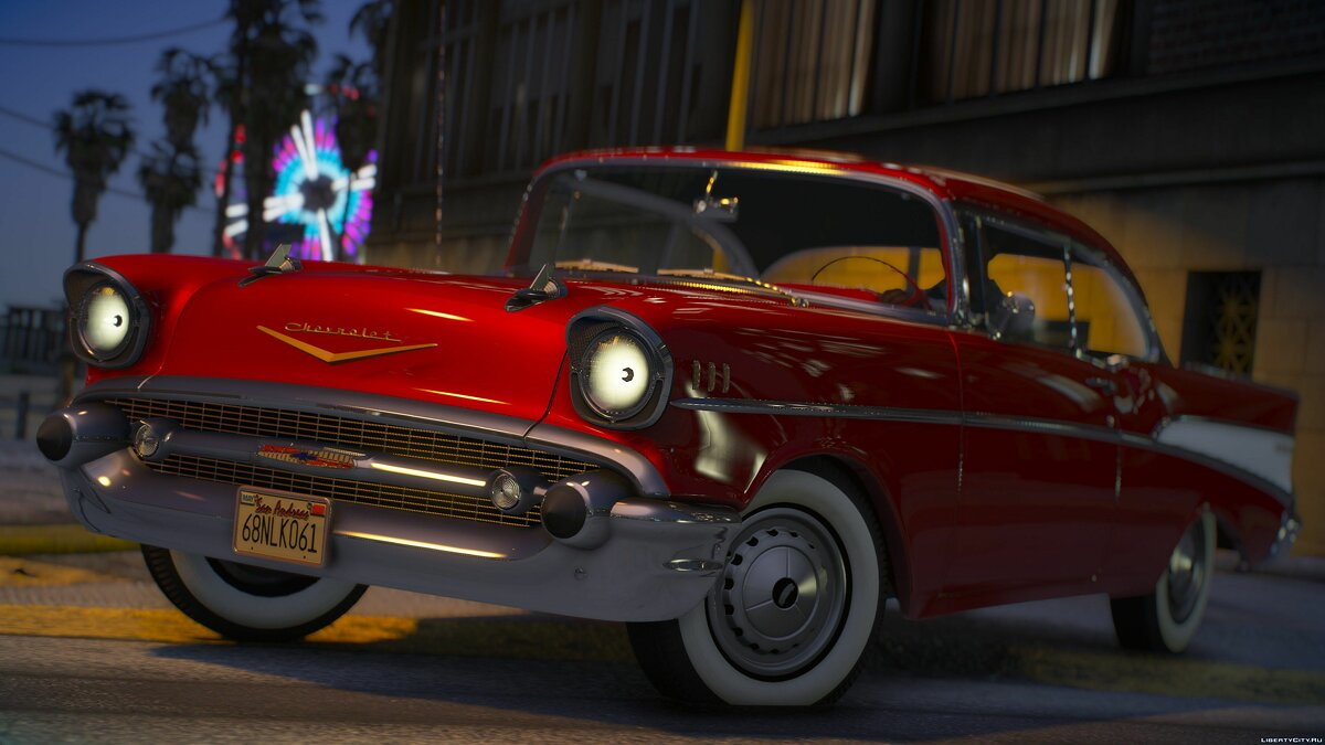 Chevrolet car 1957 Chevrolet Bel Air [Add-On | LODs | Template] 1.1 for GTA 5