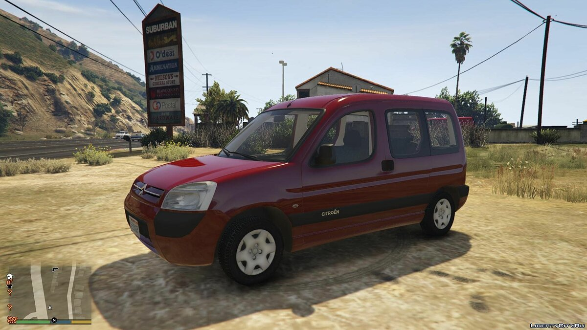 Citroën car Citroen Berlingo [REPLACE | ADD-ON | TEMPLATE] 1.0 for GTA 5