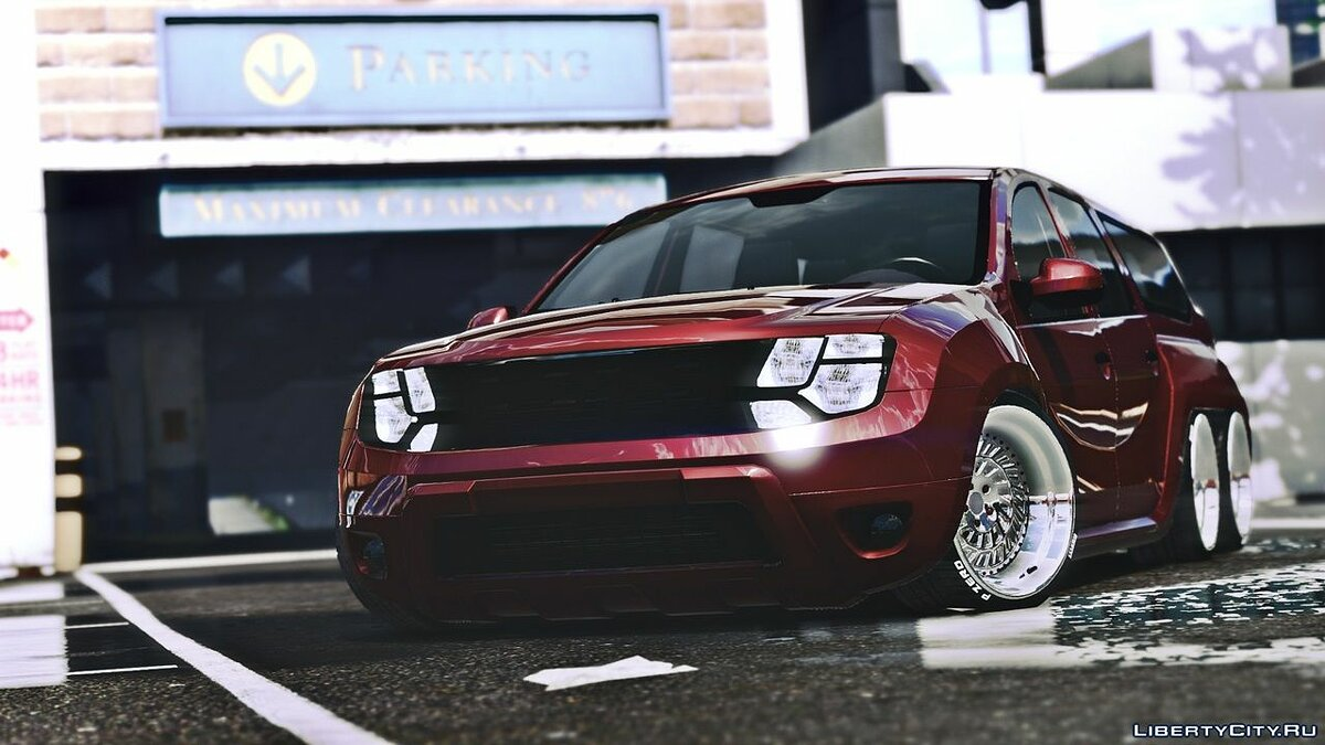 Dacia car Dacia Duster 6x6 Lowered for GTA 5