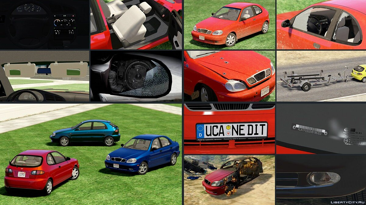 Daewoo car 2000 Daewoo Lanos * [Add-On | Tuning | Rims | Liveries | Animated] 1.0 for GTA 5