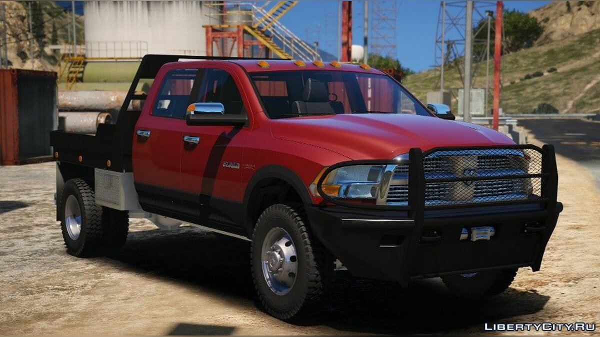 Dodge car 2010 Dodge Ram 3500 Steel Flatbed [Add-On] 1.0 for GTA 5