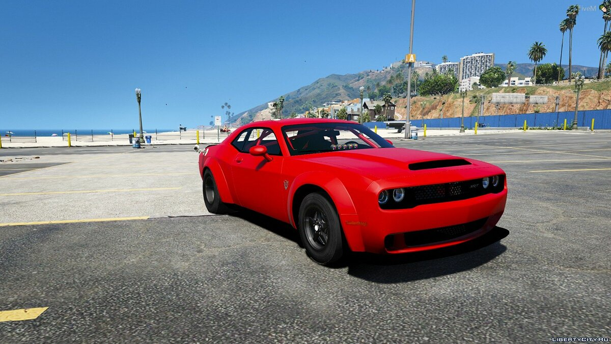 Dodge car Dodge Demon Drag Car [Add-On | FiveM] 1.0 for GTA 5
