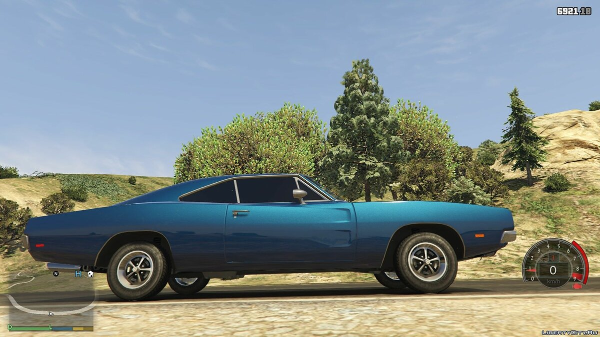 Dodge car Dodge Charger R / T 1969 1.0 for GTA 5
