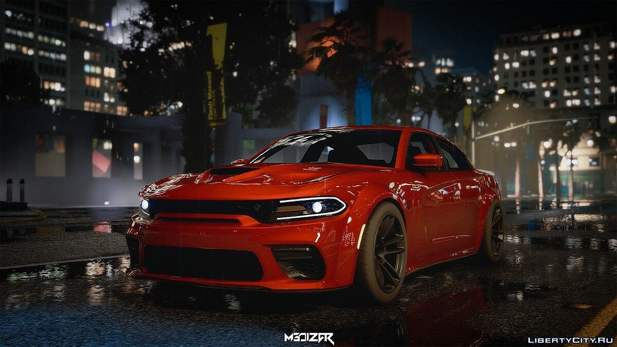 Dodge car Dodge Charger Hellcat Widebody 2021 [Add-on | Analog-Digital Dials | Animated] for GTA 5