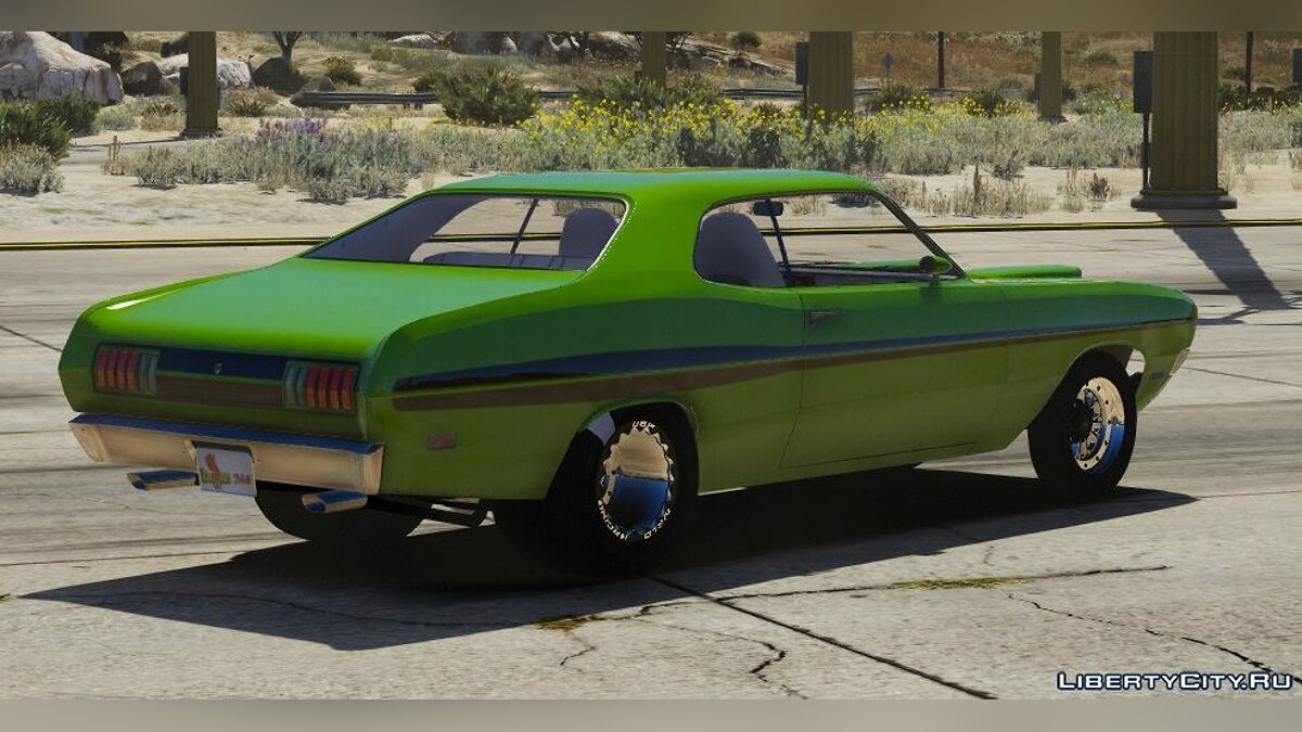 Dodge car 1971 Dodge Dart Demon Drag Version | FIVEM | REPLACE 1.0 for GTA 5