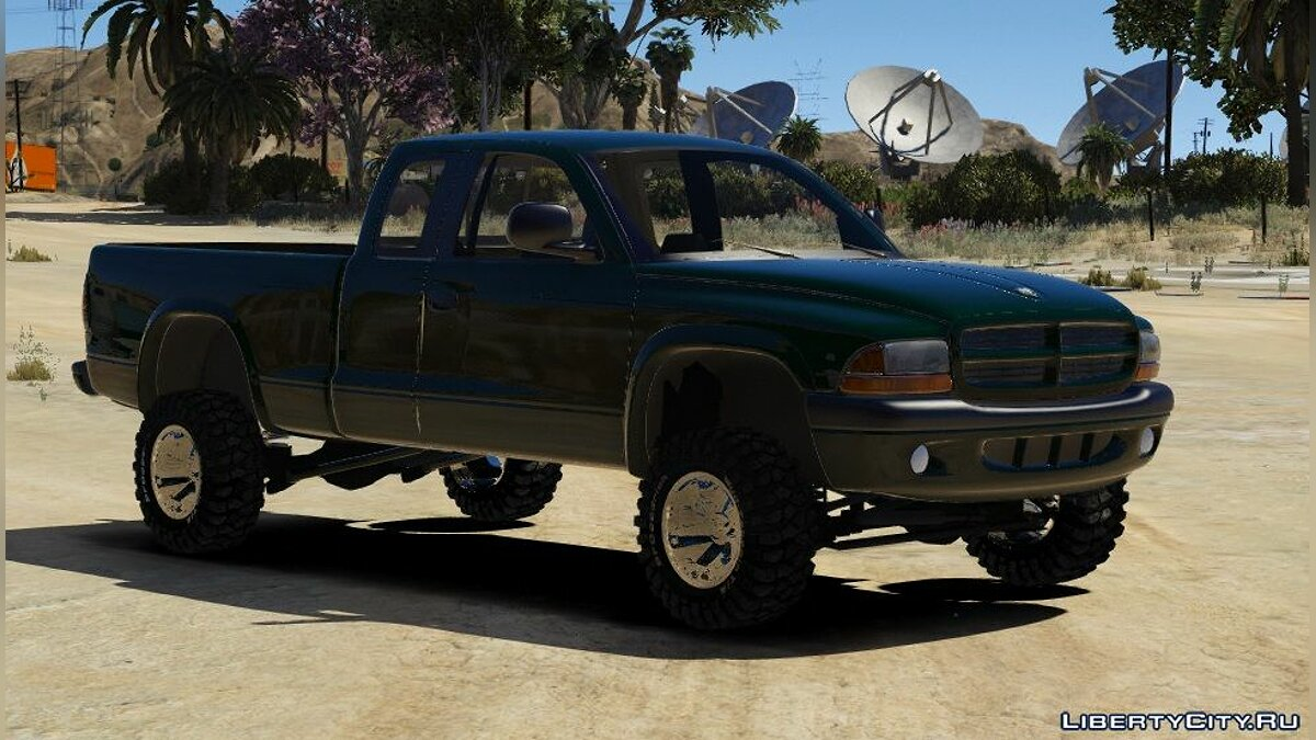 Dodge car 1998 Dodge Dakota 4x4 Extended Cab | FIVEM | REPLACE | UNLOCKED | 1.0 for GTA 5
