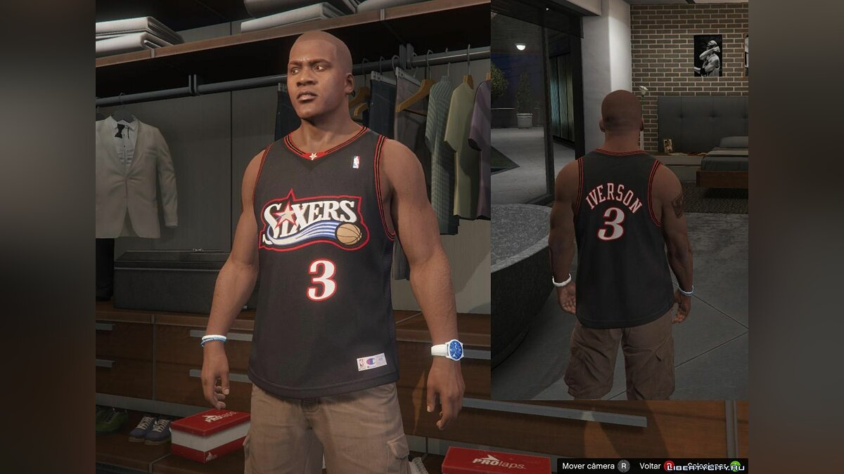 Pullovers and T-shirts Franklin - NBA Shirts Pack - Allen Iverson / Kobe Bryant for GTA 5