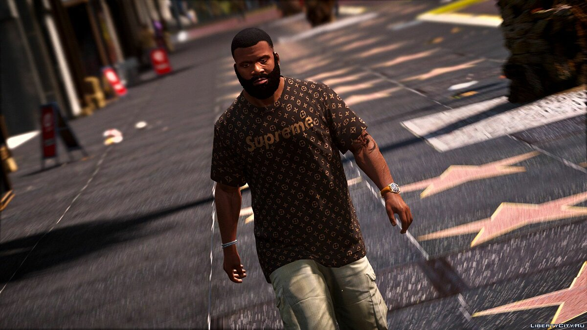 Pullovers and T-shirts Supreme T-Shirt-Shorts / Franklin for GTA 5