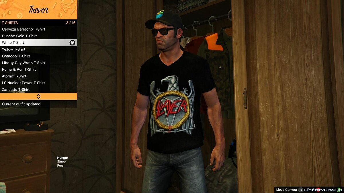 Pullovers and T-shirts Trevor's Metal Shirts Final 1.4 for GTA 5
