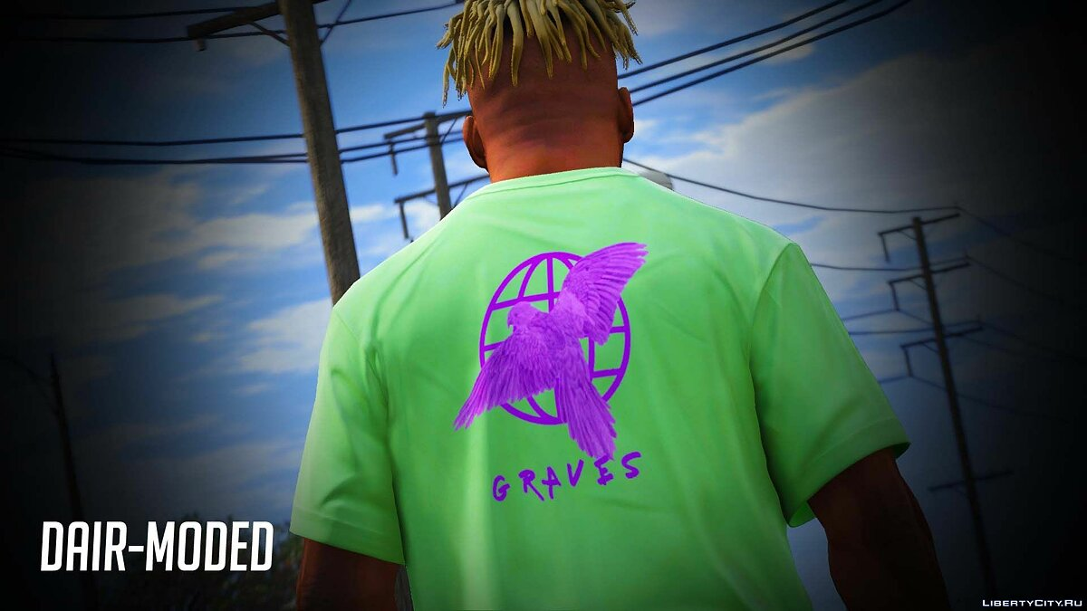 Pullovers and T-shirts A set of t-shirts with the logo of the company Graves for GTA 5