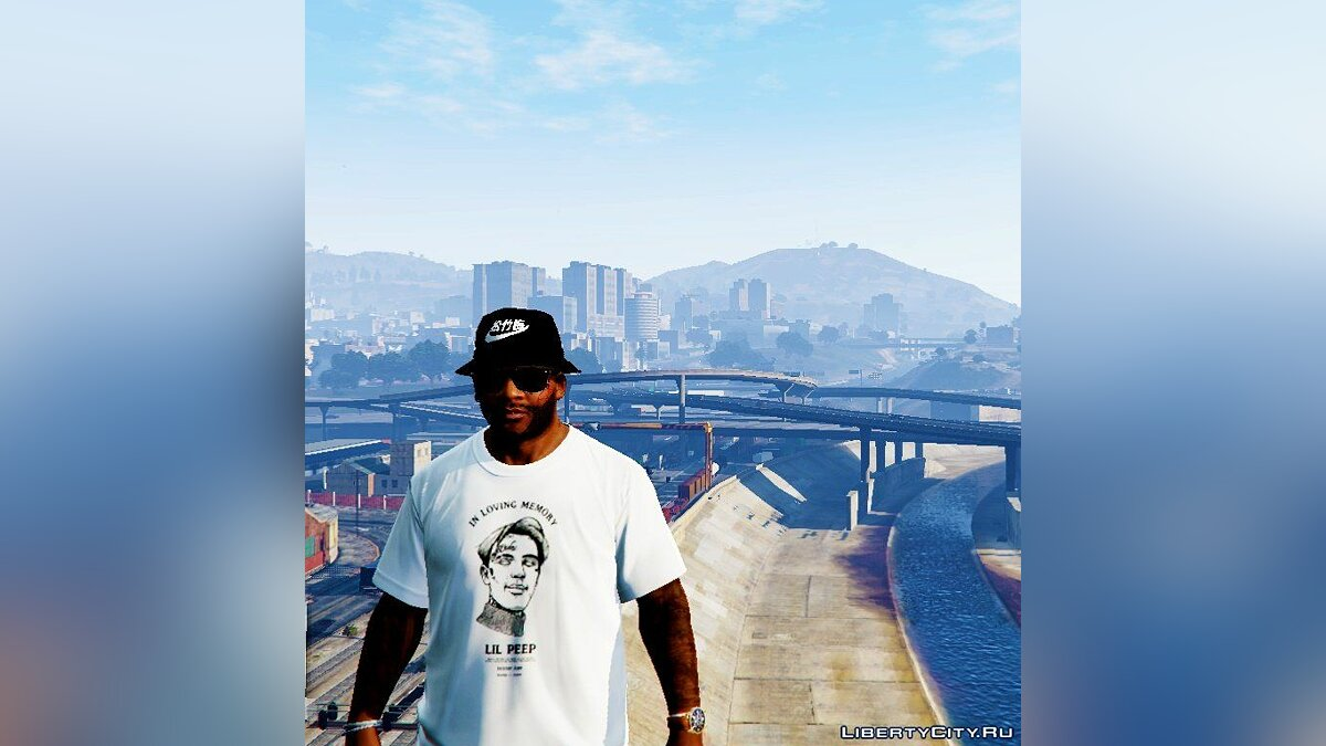 Pullovers and T-shirts Lil peep T-Shirt White for GTA 5
