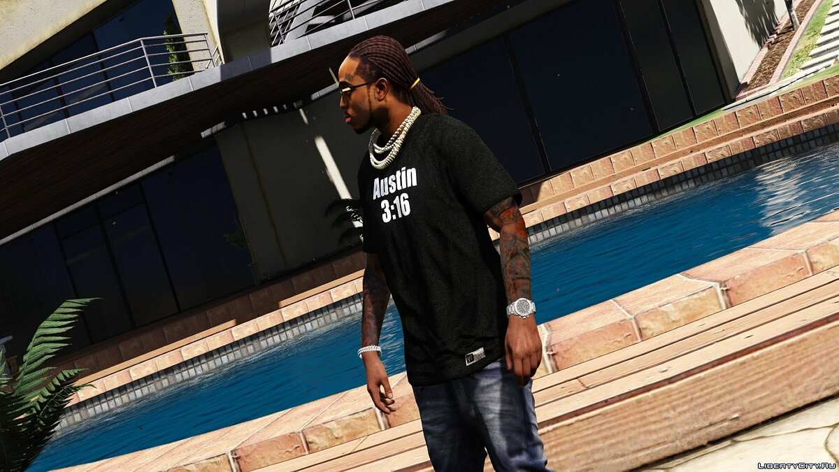 Pullovers and T-shirts Stone Cold Steve Austin t-shirt from WWE for GTA 5