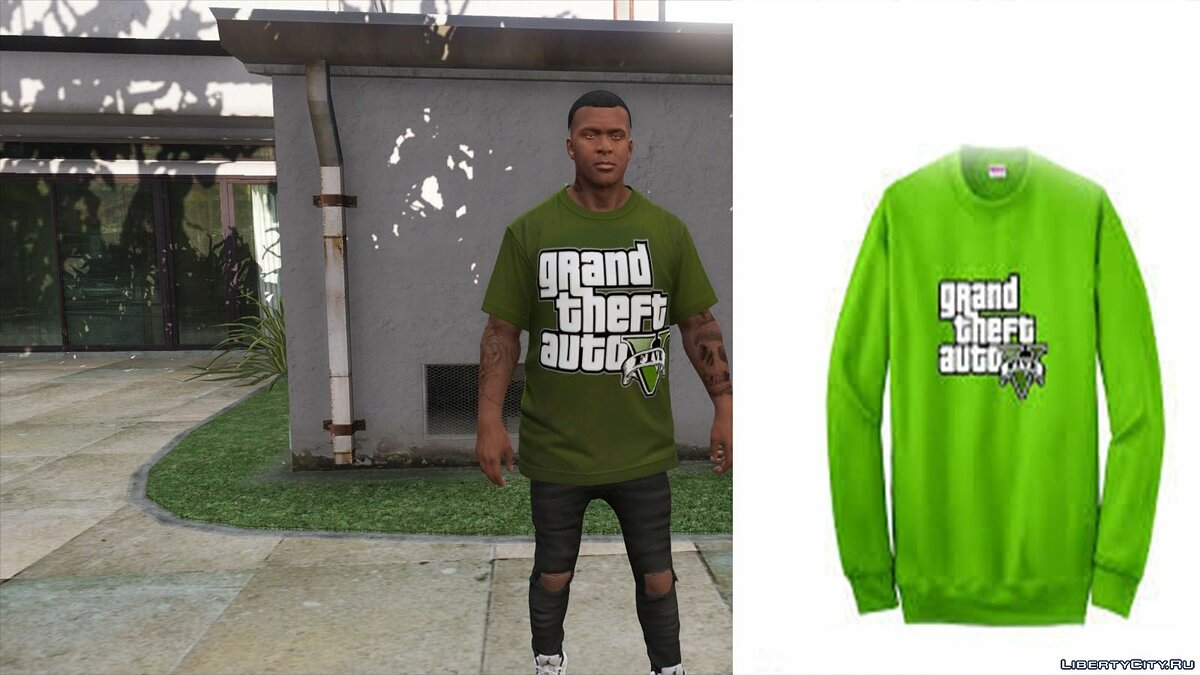 Pullovers and T-shirts T-shirt GTA 5 for GTA 5