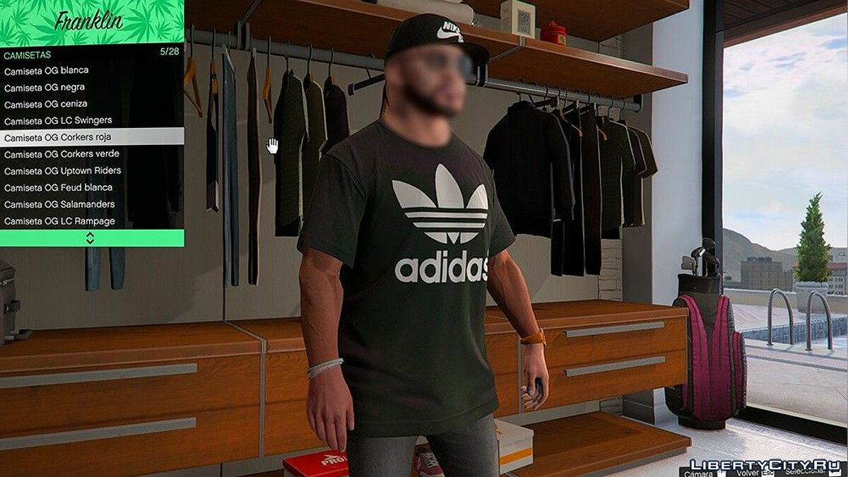 Pullovers and T-shirts Adidas Logo T-shirt for Franklin for GTA 5