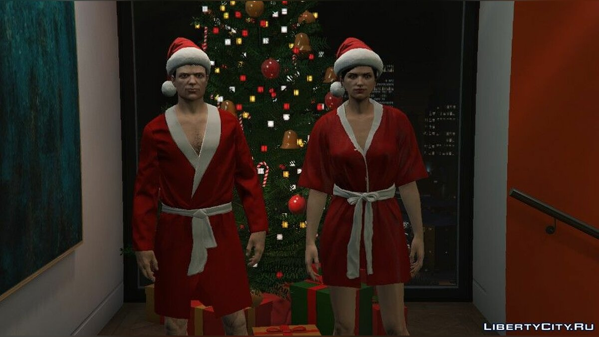 Pullovers and T-shirts Christmas robes for online characters for GTA 5
