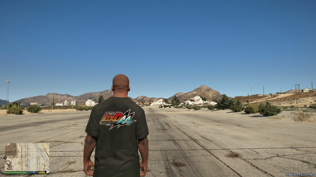 Pullovers and T-shirts T-shirt for Franklin with Initial D print for GTA 5
