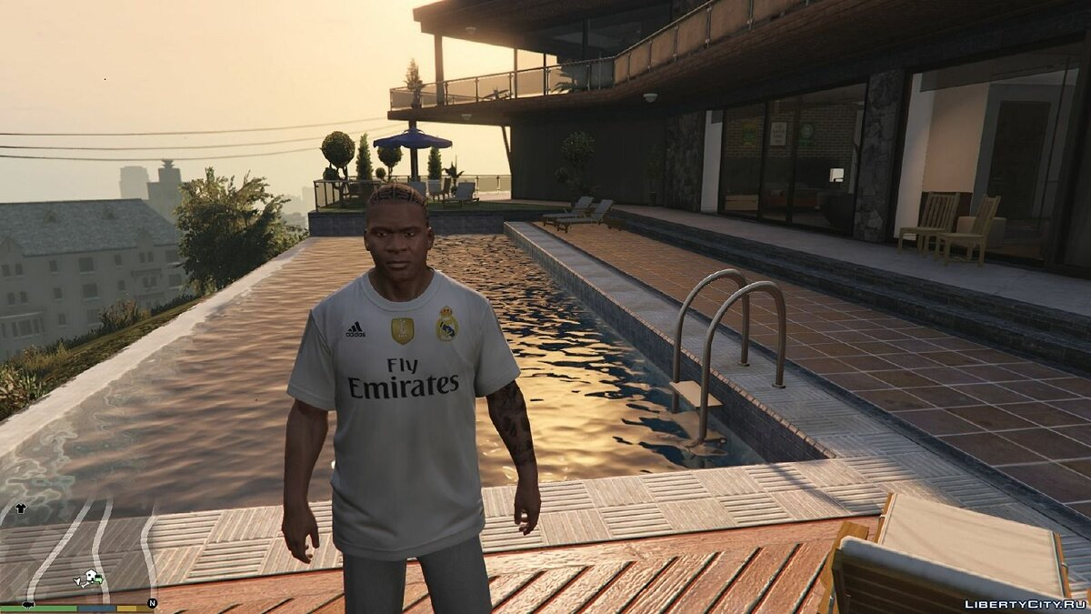 Pullovers and T-shirts Real Madrid 2014 and 2015 Kits for GTA 5