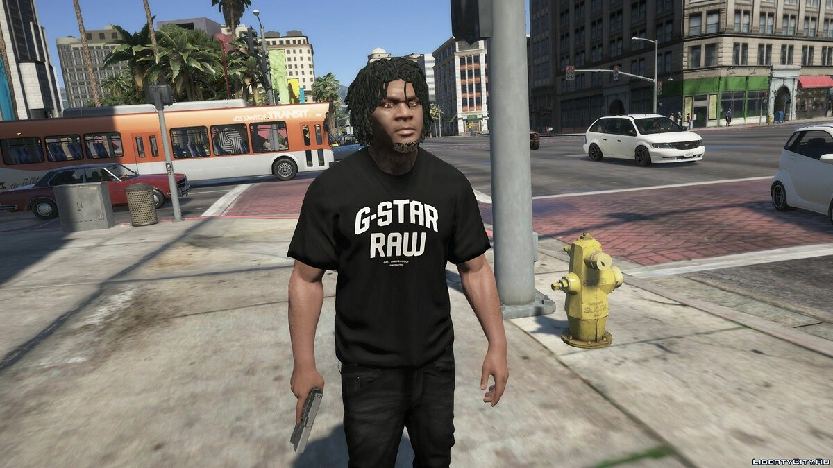 Pullovers and T-shirts G-Star Blue Hoodie and G-Star T-shirt for GTA 5