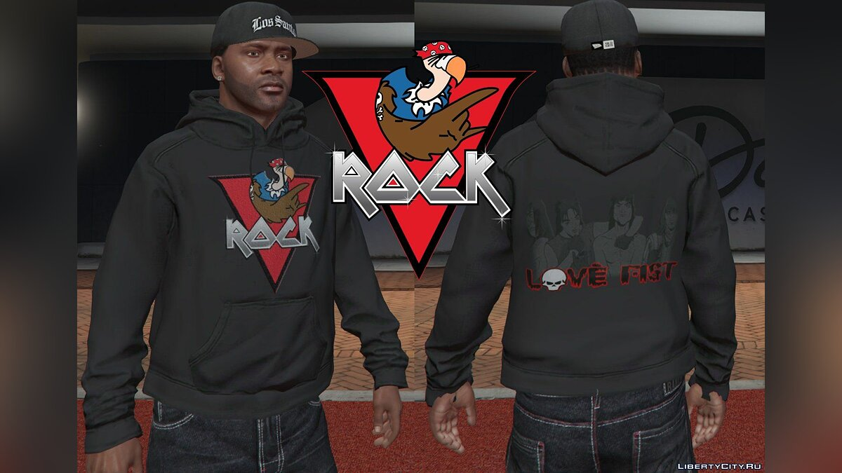 Pullovers and T-shirts Худи Flash Fm and Vrock для Франклина for GTA 5