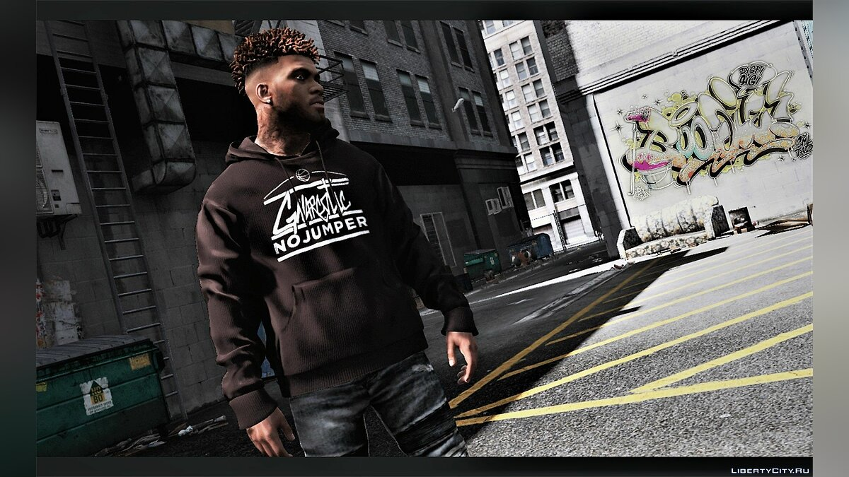 Pullovers and T-shirts Hoodie from the brands GNARCOTIC / RANSOM / VERSACE for GTA 5